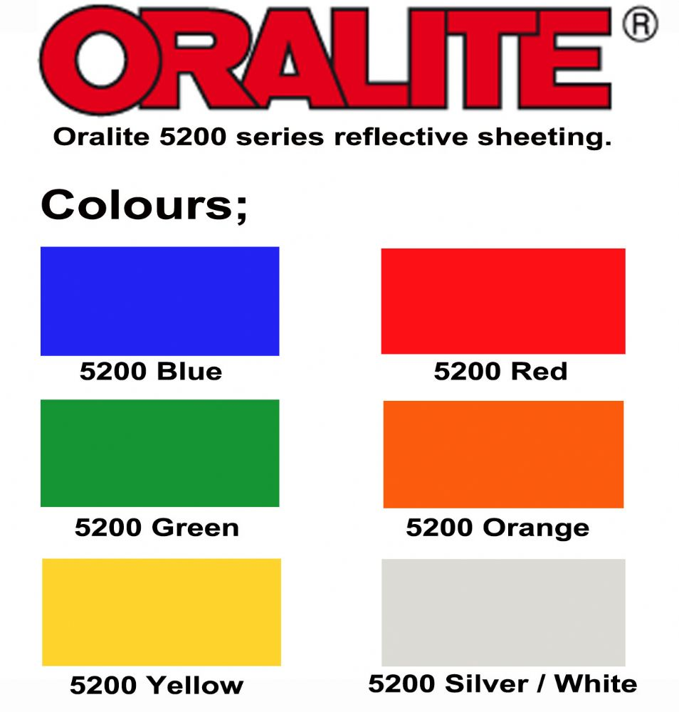 Oralite 5200 Reflective Sign Vinyl 3 4 Year